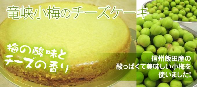 竜峡小梅のチーズケーキ